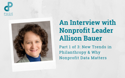 Allison Bauer Talks New Trends in Philanthropy & Why Data Matters