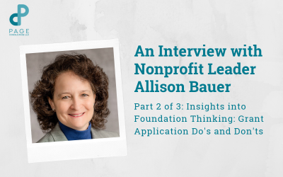Allison Bauer's Insights into Foundation Thinking: Grant Application Do's and Don'ts