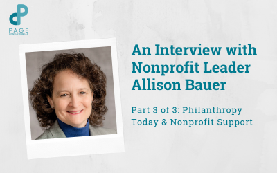 Allison Bauer Discusses Philanthropy Today & Nonprofit Support